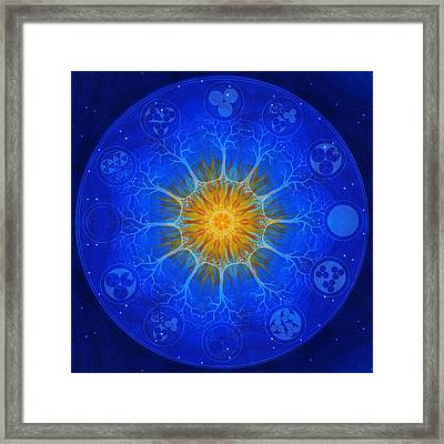 Universal Tree Of Life - Creative Fire Framed Print