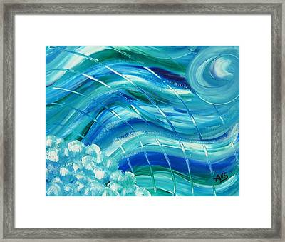 Universal Waves Framed Print