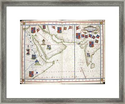 Universalis Orbis Hydrographia Framed Print by British Library