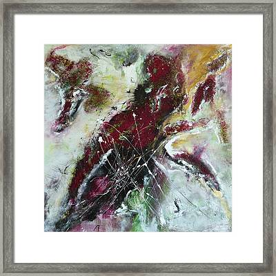 Framed Print featuring the painting Universe- Abstract Art by Ismeta Gruenwald