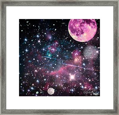 Framed Print featuring the digital art Universe - Abstract by Ester  Rogers