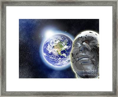 Alone In The Universe Framed Print by Stefano Senise
