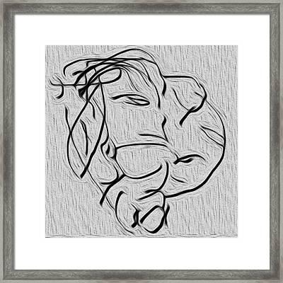 Universite De Visages Framed Print by Sir Josef - Social Critic -  Maha Art