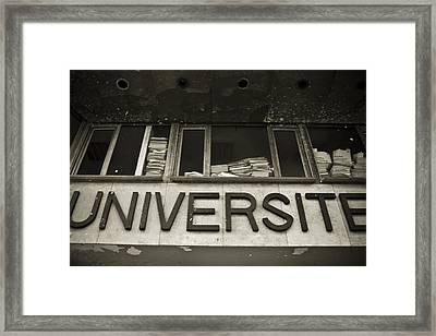 Universite Framed Print by Marta Grabska-Press