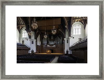 University Auditorium And The Anderson Memorial Organ Framed Print by Lynn Palmer