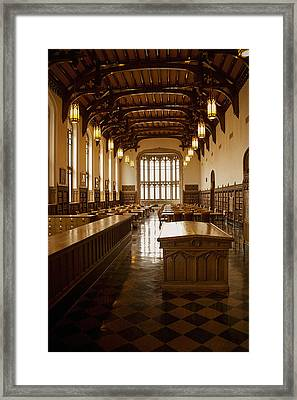 University Library Framed Print by Andrew Soundarajan