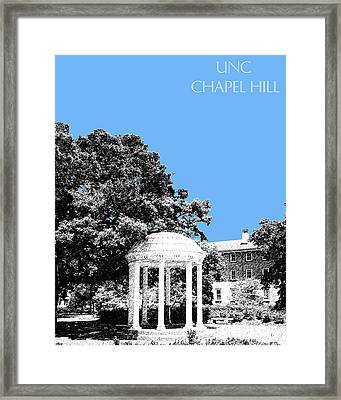 University North Carolina Chapel Hill - Light Blue Framed Print