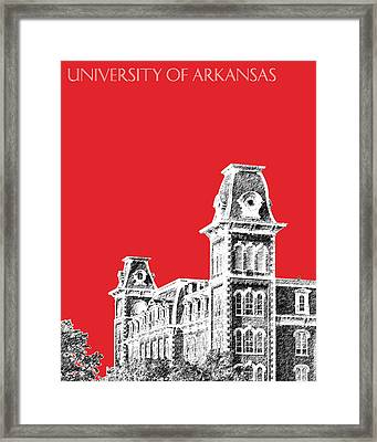 University Of Arkansas - Red Framed Print by DB Artist