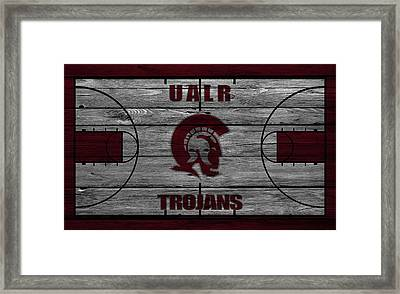 University Of Arkansas At Little Rock Trojans Framed Print by Joe Hamilton