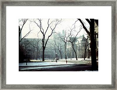 University Of Chicago 1976 Framed Print by Joseph Duba