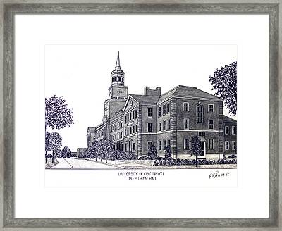 University Of Cincinnati Framed Print by Frederic Kohli