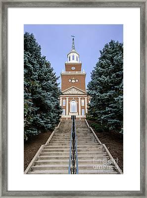 University Of Cincinnati Mcmicken Hall Framed Print by Paul Velgos