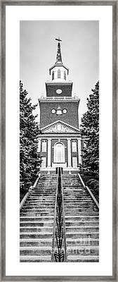 University Of Cincinnati Vertical Panoramic Picture Framed Print by Paul Velgos