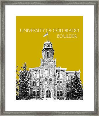 University Of Colorado Boulder - Gold Framed Print by DB Artist