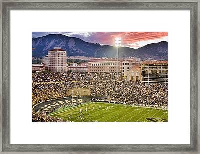 University Of Colorado Boulder Go Buffs Framed Print