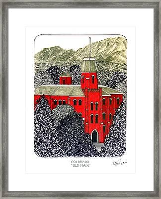 University Of Colorado Framed Print