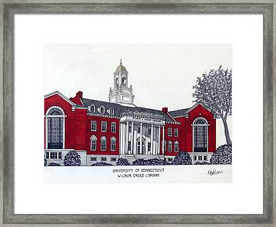 University Of Connecticut Framed Print by Frederic Kohli