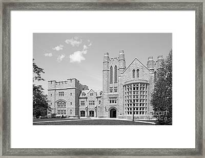 University Of Connecticut School Of Law Meskill Law Library Framed Print by University Icons