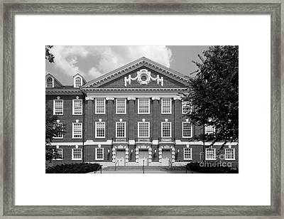 University Of Delaware Wolf Hall Framed Print