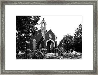 University Of Dubuque Alumni Hall Framed Print by University Icons