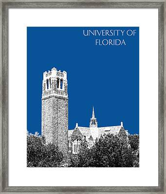 University Of Florida - Royal Blue Framed Print by DB Artist