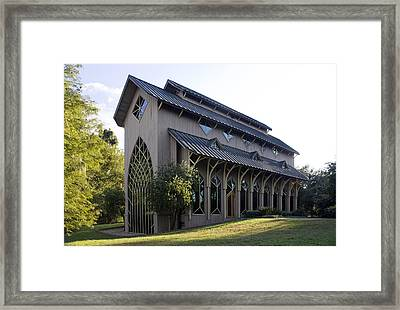 University Of Florida Chapel On Lake Alice Framed Print by Lynn Palmer