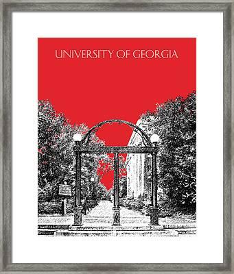 University Of Georgia - Georgia Arch - Red Framed Print by DB Artist