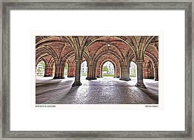 University Of Glassgow Framed Print by Anusha Hewage