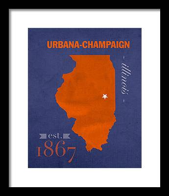 University Of Illinois Framed Prints