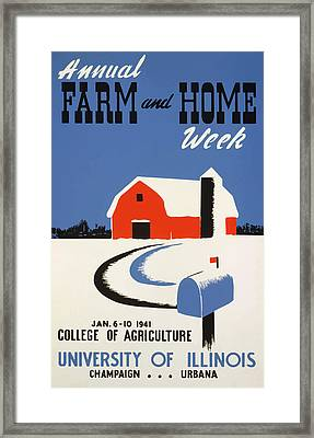 Framed Print featuring the painting University Of Illnois Farm And Home Week by American Classic Art