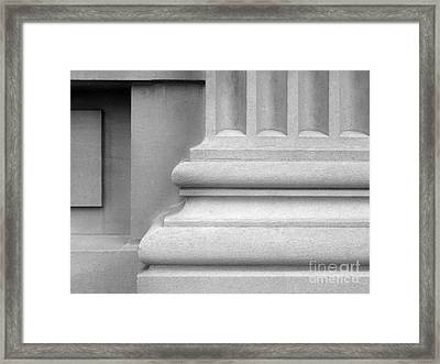 University Of Iowa Column Base Framed Print