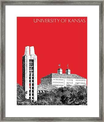 University Of Kansas - Red Framed Print by DB Artist
