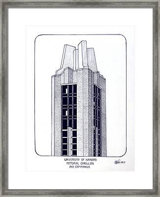 University Of Kansas Framed Print