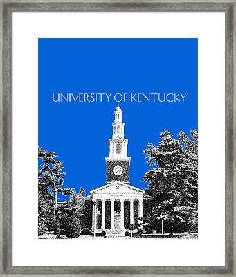 University Of Kentucky - Blue Framed Print