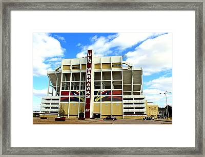 University Of Louisiana At Monroe Malone Stadium Framed Print by Kathy  White