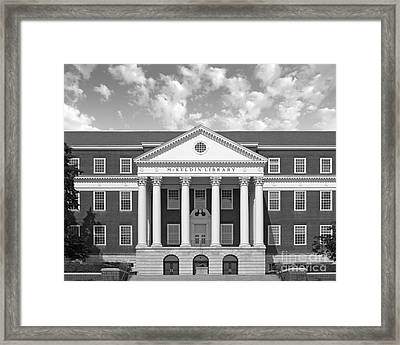 University Of Maryland Mc Keldin Library Framed Print