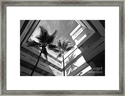 University Of Miami Business Administration Courtyard Framed Print by University Icons