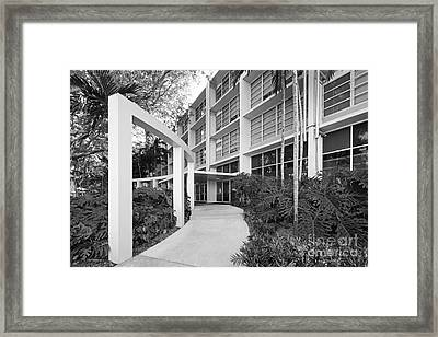 University Of Miami Eaton Residential College Framed Print by University Icons