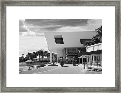 University Of Miami Weeks Center Framed Print by University Icons