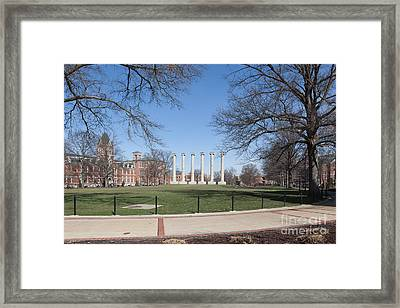 University Of Missouri Quad Framed Print by Kay Pickens
