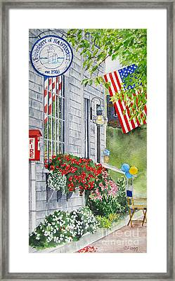 University Of Nantucket Shop Framed Print