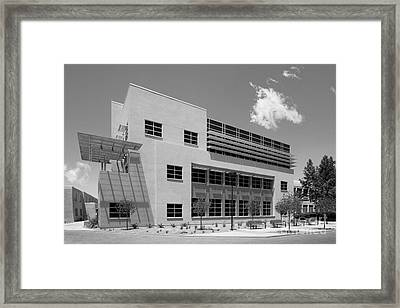 University Of New Mexico Castetter Hall Framed Print by University Icons