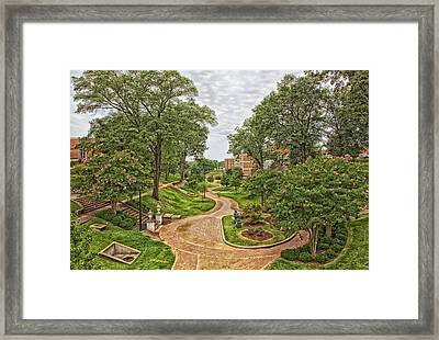 University Of North Alabama Campus Framed Print by Mountain Dreams