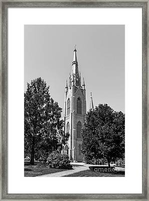 University Of Notre Dame Basilica Of The Sacred Heart Framed Print
