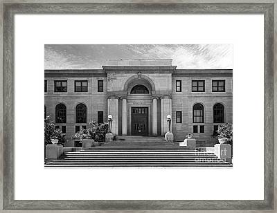 University Of Notre Dame Bond Hall Framed Print by University Icons