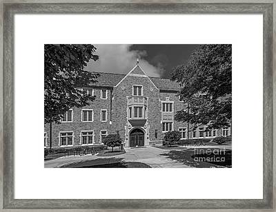 University Of Notre Dame Coleman- Morse Center Framed Print by University Icons