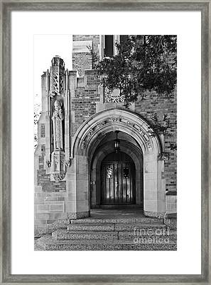 University Of Notre Dame Framed Print by University Icons