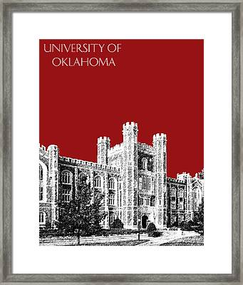 University Of Oklahoma - Dark Red Framed Print by DB Artist