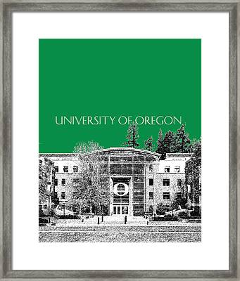 University Of Oregon - Forest Green Framed Print