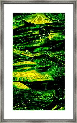 University Of Oregon Ducks - Abstract Framed Print by David Patterson